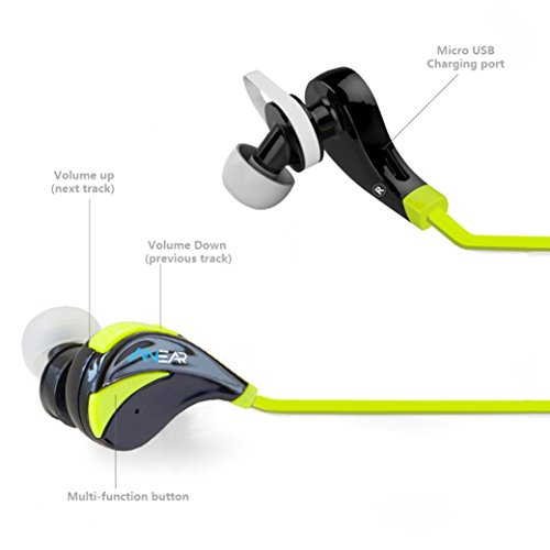Bluetooth Headphones Anear Stereo Wireless Bluetooth Earbuds Sport Running Gym Exercise Sweatproof Cvc 6 0 Noise Cancelling Wireless Bluetooth Earphones W Microphone Compatible With Iphone 6 6 Plus 5 5c