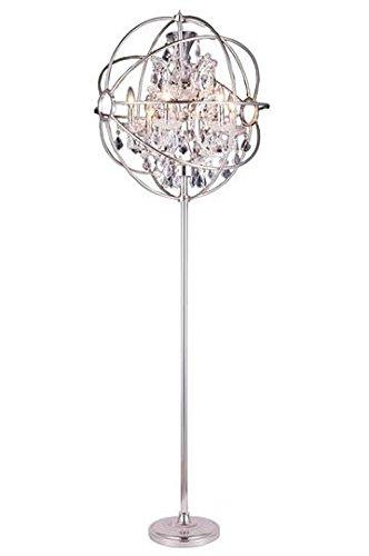 Metro Polished Nickel Modern 6-Light Floor Lamp Heirloom Handcut ...