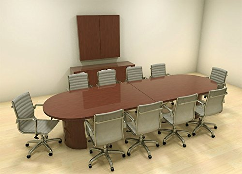 Modern Racetrack Feet Conference Table CHJADC Office Junky - 12 foot conference table