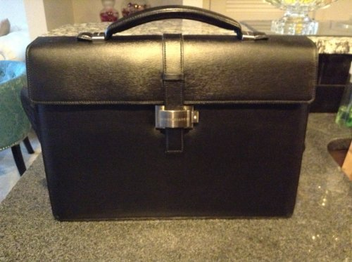 e5cb228dc37f1 Montblanc Single Gusset Brown/Camel Leather Briefcase 9559, 4810 Westside  Collection