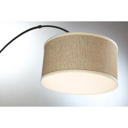 Quoizel Q4572 Zen 1 Light 76 Tall Arc Floor Lamp With Rattan Shade Office Junky
