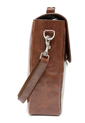 9e35abc8b8c1 Ashlin Genuine Leather  Booth  Casual Briefcase