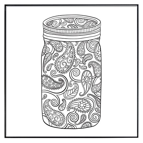 MCS Time Out Color In Framed Adult Coloring Pages Mason Jar