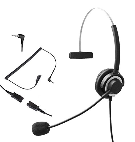 Audicom 2 5mm Call Center Headset Headphone With Mic And Quick Disconnect For Telephone Panasonic Kx Nt136 Kx Nt343 Kx Nt346 Kx Nt366 Kx T7603 Ip And Cordless Phones With 2 5mm Headset Jack 300qd25d Office Junky